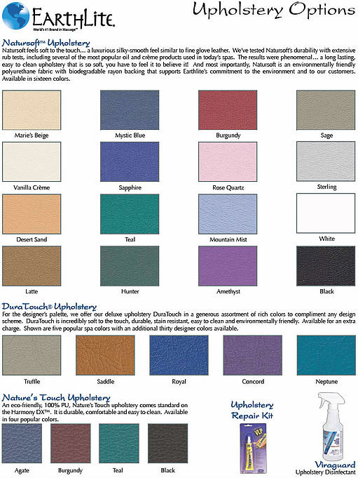 Earthlite-Kleurenkaart