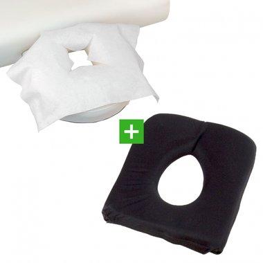 Hoofdsteunkussen Soft FoamGel Zwart & 100 disposables X TAO-line
