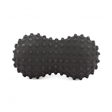 Spiky Peanut Massageroller met noppen anthracite
