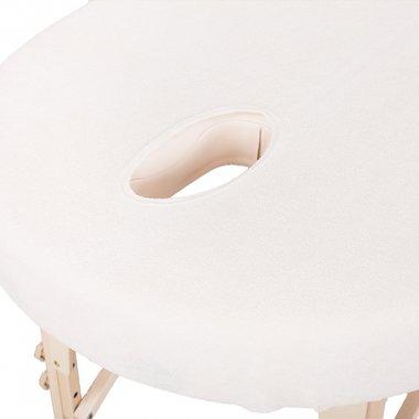Overtrek Massagetafel Badstof met gezicht uitsparing Crème Medium Wu-Wei