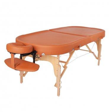 Ayurveda Oval massagetafel pakket Terracotta 195X79cm TAO-line
