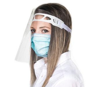 Gezichtsbeschermer van PET met verstelbare hoofdband