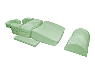 Pregnancy Massage Bolster Set H. + 2 Voetsteunen